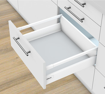Pull-out set, Blum Tandembox antaro, with Blumotion cabinet rail, railing C, system height M, drawer side height 83 mm