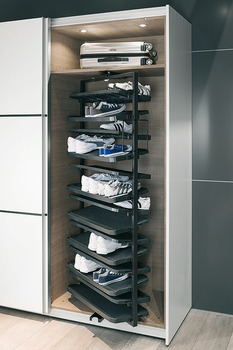 Pull Out Shoe Rack Rotating 180 For Up To 20 Or 50 Pairs Of