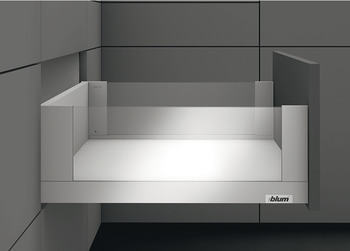 Pull-out without front panel, With Blum Legrabox free drawer side runner system