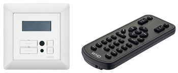 RDS built-in radio, with remote control, 12 V, for installation in flush mounted boxes Ø 68 mm