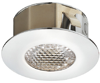 Recess mounted light, IP 44, round, LED 1007, brass stainless steel coloured, 350 mA