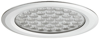 Recess mounted light, round, LED 1057, plastic, 12 V