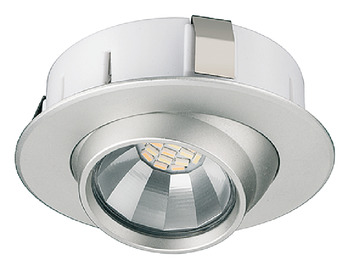 Recess mounted light, Round, LED 1109, 2 W, plastic, 12 V, multi-white