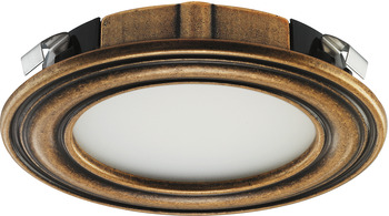 Recess mounted light, Round, LED 1136, 12 V