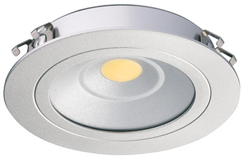 Recess mounted light, round, Loox LED 3010, aluminium, set, 24 V
