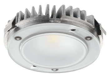 Recess mounted light/surface mounted downlight, modular design, Häfele Loox LED 2026, aluminium, 12V