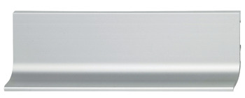 Recessed grip profile, horizontal, for handle-free appearance of front panels, aluminium