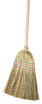 Rice straw broom, With handle