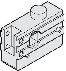 Round bolt lock, without guide pin