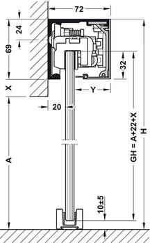 Set components, Dorma Muto Comfort XL – 150, set with