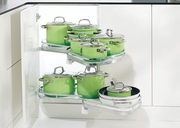 Set of shelves, Kesseböhmer LeMans Corner cabinet half circle carousel fitting