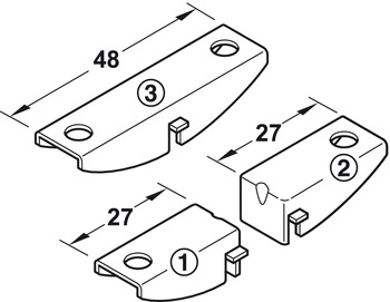 Shelf support, prewall system, A series