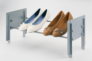 Shoe rack, for placing in cupboards, stackable
