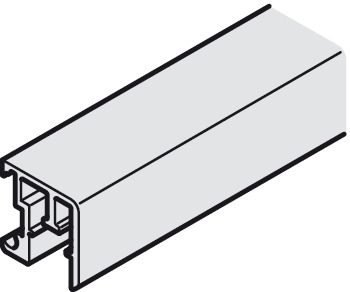 Single guide track, For clip fixing, 20 x 20 mm (W x H)