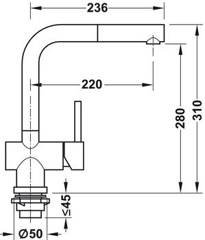 Single lever tap, Mixer tap, Franke Active Plus | online at