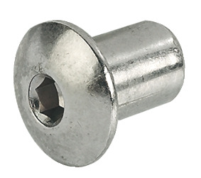 Sleeve nut, With pan head, with internal thread M6, hexagon socket SW4