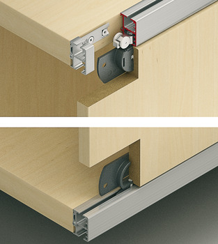 Sliding door fitting, EKU Regal C 16 H IF, set