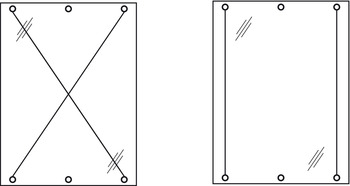 <em>The use of a straightening fitting on glass door</em>