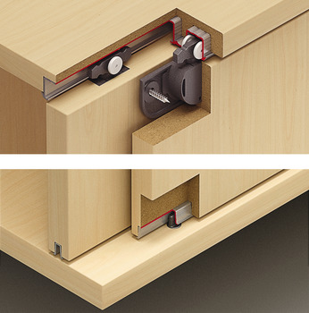 Sliding door fitting, Slido Classic 12 IF C, set
