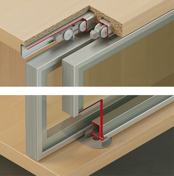 Sliding door fitting, Slido Design 20 IF C A, set