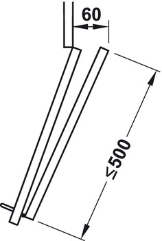 Sliding door fitting, Slido Fold 20 VF, set