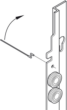 Sliding door fitting, Slido Vertico 20 VF W, Vorfront – for 1 door