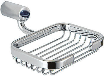 Soap basket, chrome plated polished, round series