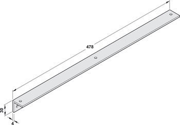 Soffit fixing bracket, For guide rail
