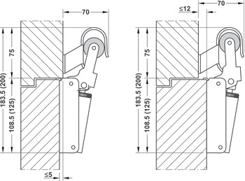 Soft closing mechanism for doors, FR1, for interior and exterior doors