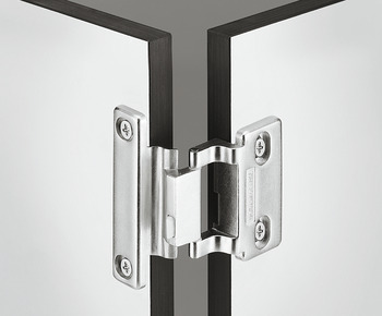 Special hinge, For laminate doors (HPL), for half overlay mounting, gap 6 mm