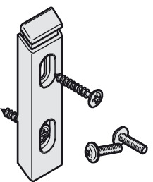 Spring latch, for centre guide