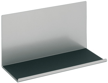 Storage element, with glued on non-slip mat, steel, magnetic railing system