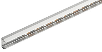 Surface mounted light, glass edge light – Loox, LED 2007, aluminium 12 V