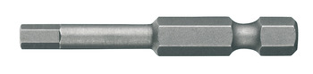 SW bit, Hexagon socket, L=50 mm, chrome-vanadium steel