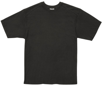 T-Shirt, Black, with double-layered shoulder yoke