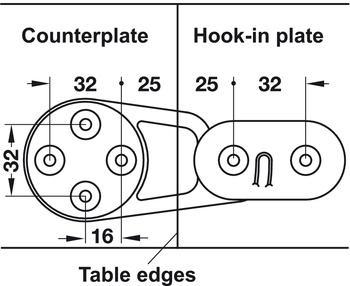 Table top connector, separable table tops