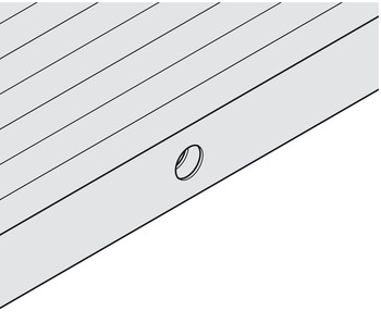 Tambour door, preparation of the lock strip, extending rod lock