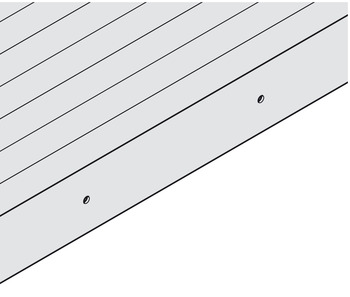 Tambour door, preparation of the lock strip, for handles