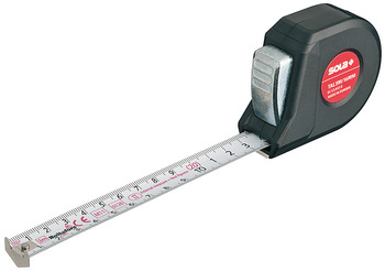 Tape measure, Talmeter, with combined measurement and marking edges