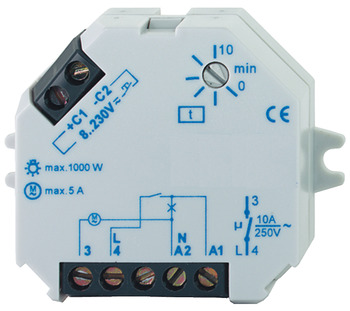 Time delay relay, Dialock, for installation in flush mounted box