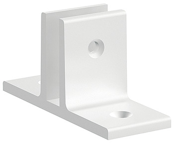 Toilet screen wall support, aluminium, for panel thickness 13 mm