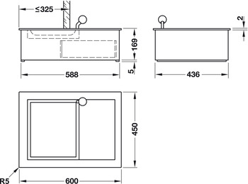 Tray, for installation in counters, bullet-proof standard M3/F4