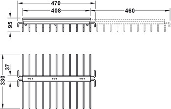 Trouser rack, Extending, for 11 pairs of trousers