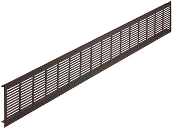 Ventilation grill, aluminium with ribbed flanges, Startec