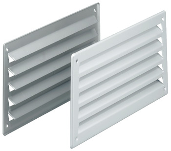 Ventilation grill, stainless steel/aluminium for screw fixing, concealed ventilation slots