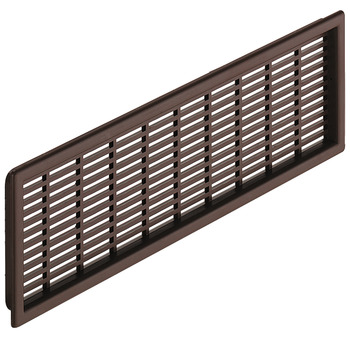 Ventilation grills, plastic, slotted, white or brown
