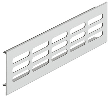 Ventilation grills, square, aluminium, with ribbed flanges, slotted
