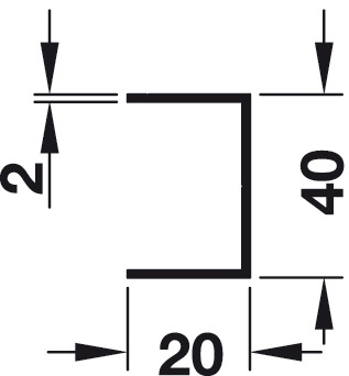 Wall connection profile, For screw fixing