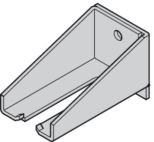 Wall mounting bracket , For height adjustable sleeve
