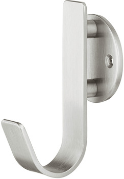 Wardrobe hook, Stainless steel, with 1 hooks